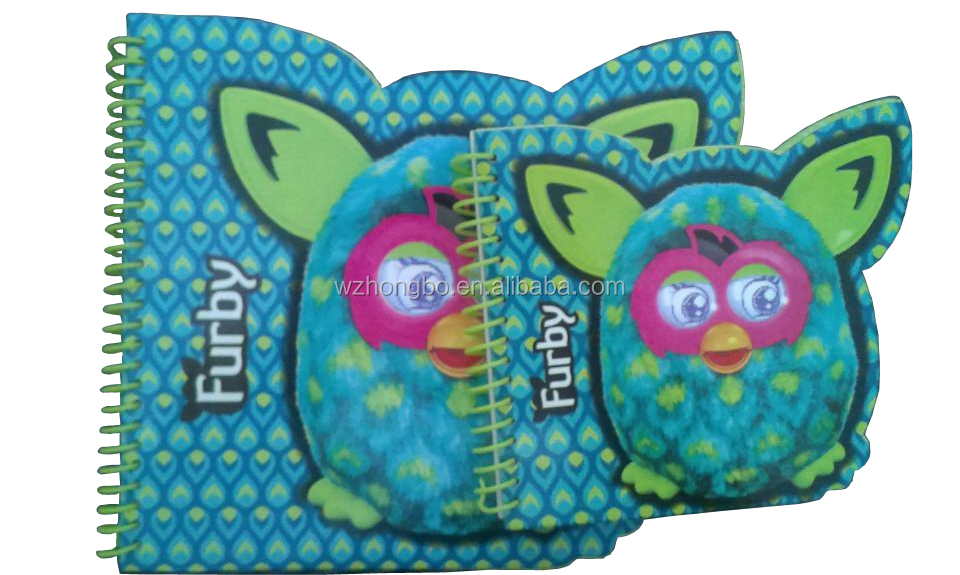 Owl shaped spiral notebook with colored index tab divider
