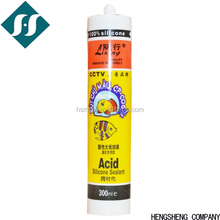 LiXing acid oily silicon sealant for glass ,transparency , silver gray