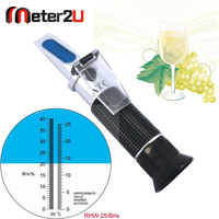 0-25%Vol 0-40%Brix new grape alcohol meter refractometer for wine