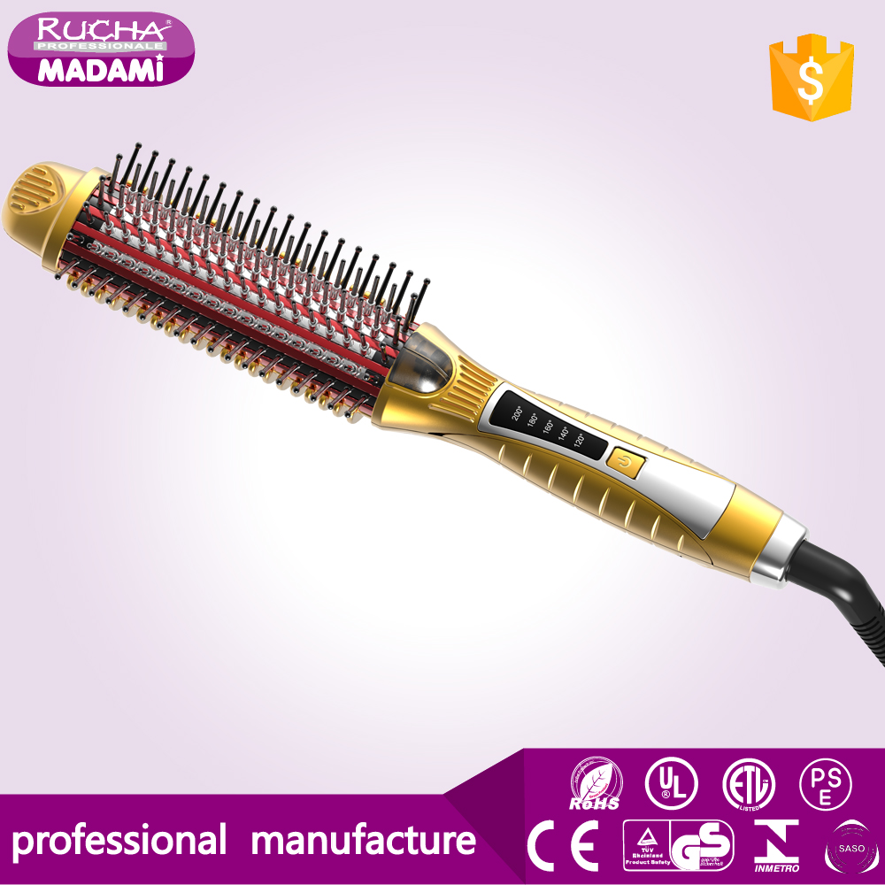 2017 New Technology Hair Styling Tools Ionic 3 IN 1 Hair Straightening Curling Brush