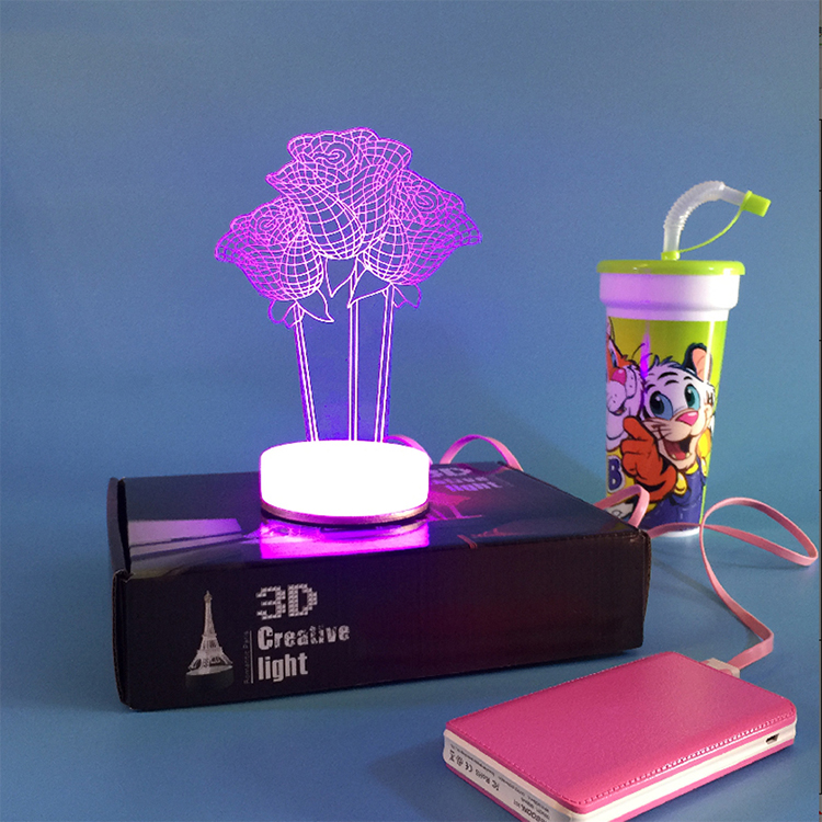 3D night light reading lamp many designs manufacturer