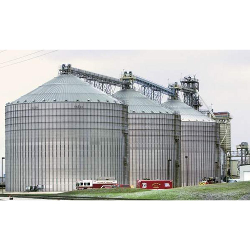 Corrugated Steel Grain Silo Price, Grain Storage Silo System with Grain Dryers Turnkey Solution