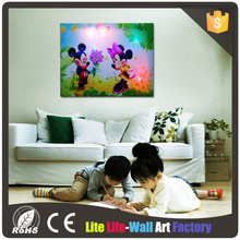 wholesale Modern Wall Art light up led canvas painting for home decor