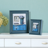 Blue Plastic Natural Family Photo Frame Picture Frames Wholesale