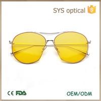 Custom promotional double metal frame sunglasses ,genuine mosaic female sun glasses