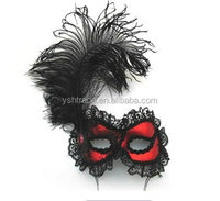 feather mask party mask factory supply new style fancy feather masks for party decoration