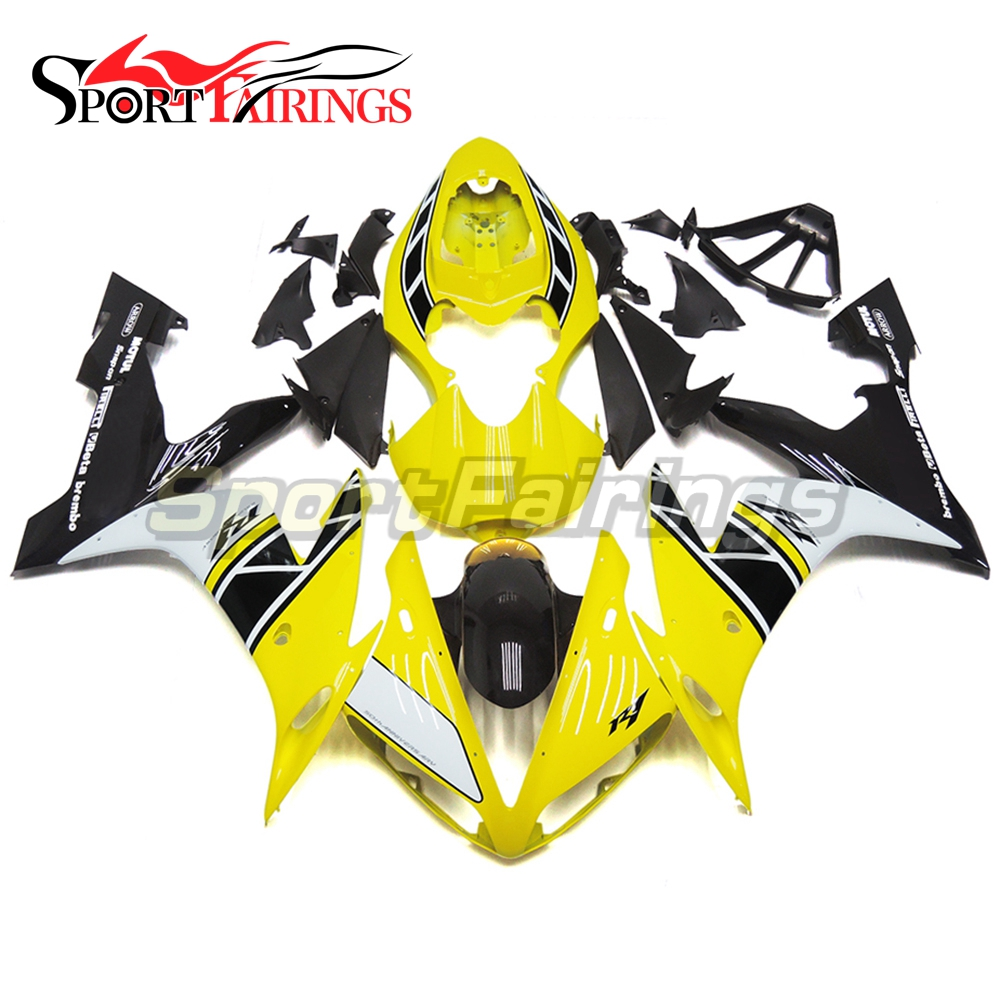 Full <strong>Fairings</strong> For Yamaha YZF <strong>R1</strong> <strong>04</strong> 05 06 ABS Plastic Injection Motorcycle <strong>Fairing</strong> Kit Body Kits Yellow White 50 Anniversary
