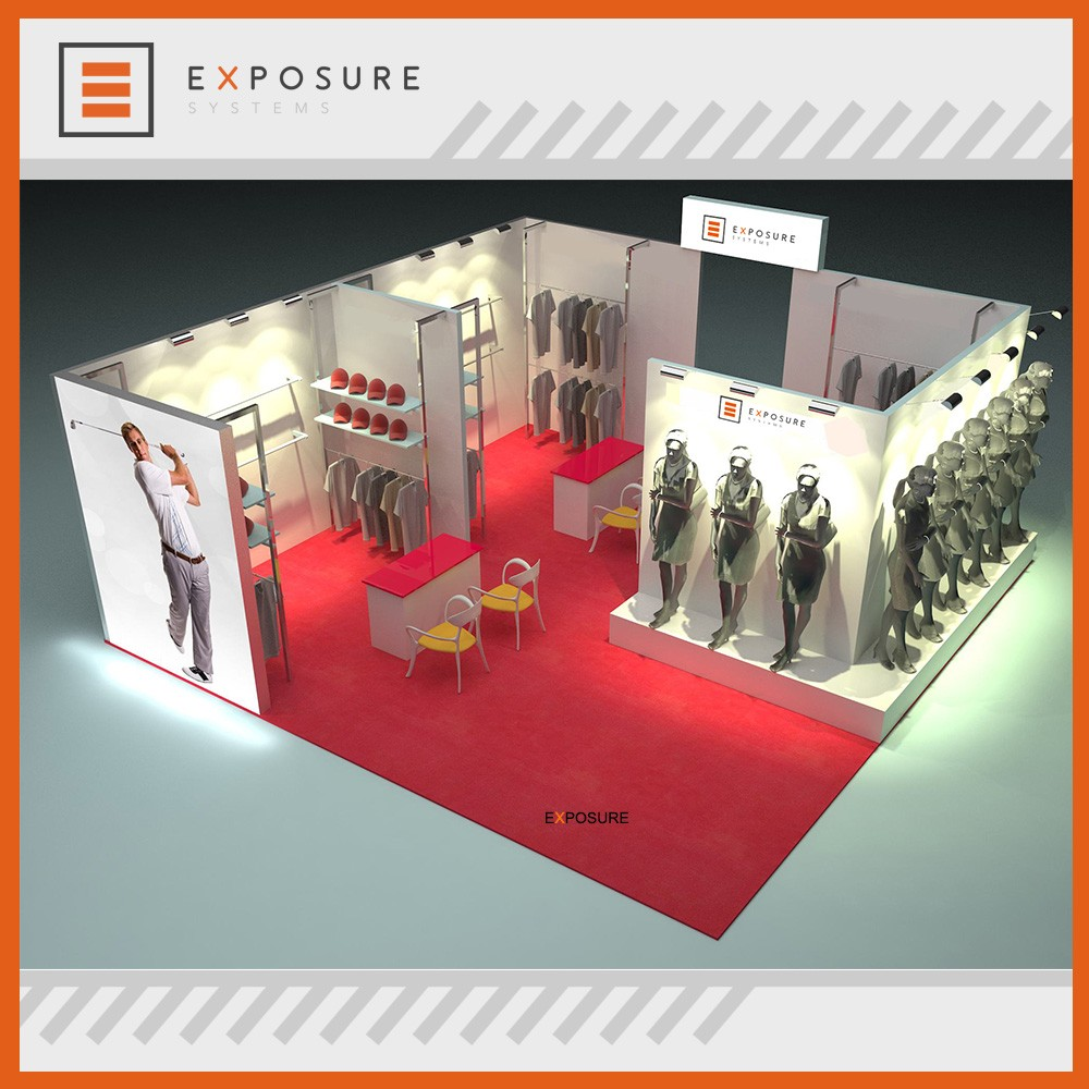 Modular Exhibition Stand Manufacturer Customized Advertising Tade Show Booth