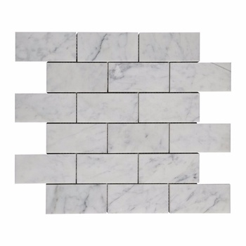 2*4 Brick Carrara White Marble Mosaic for Wall and Floor Decor