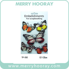 2016 High Quality Handmade Decorative Butterfly Paper Craft for Kids
