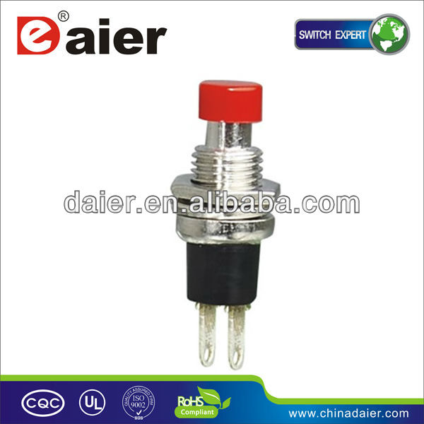 PBS-105 Red small OFF-(ON) 0.5A 2 PIN 7MM electronics 120V momentary contact push button switch
