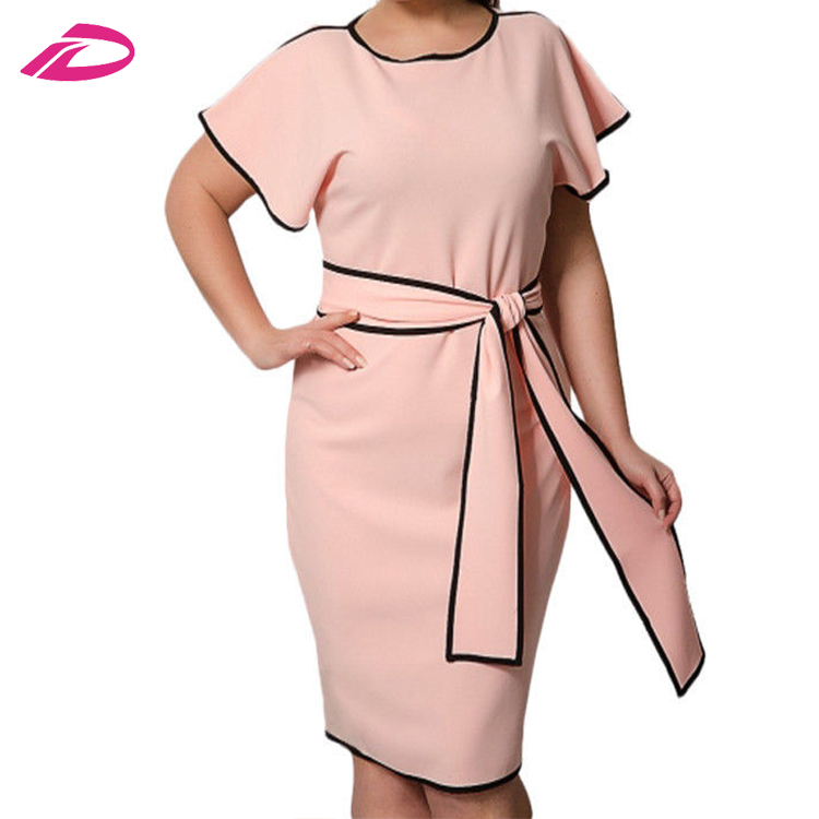 Hot Sale Summer Soft Short Sleeve Mini Casual Fashion clothing Plus Size Women's Dress