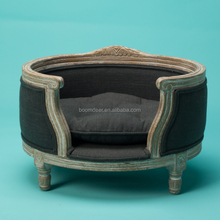 pets funiture antique shabby luxury dog bed wood