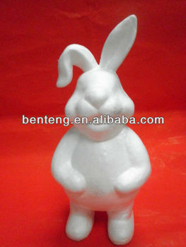 2013 promotional foam craft decorative artificial sisal rabbit for easter