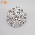 Bling Rhinestone Crystal Small Floral Silver Brooch