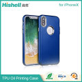 Soft TPU Cell Phone Case with Painting Rubber Oil Coating Phone Case Covers for iphoneX