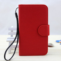 best sale leather phone case for samsung galaxy i8552