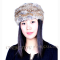 CX-E-10B Women Snood Real Rabbit Fur Elastic Headband