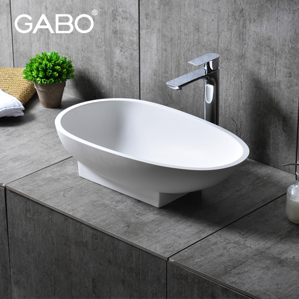 Bathroom Oval Small Hand Wash Corner Sink Basin