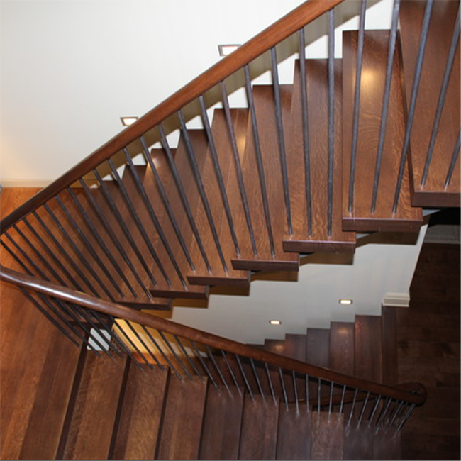 steel wood Straight Stairs stailess steel timber staircase stainless steel railing stair