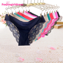 Wholesale High Quality Lady G-String Lace Panties Seamless Women Underwear Sexy