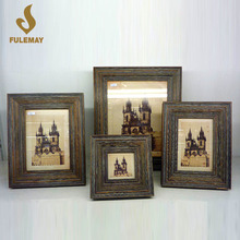 Standing Photo Frame Wood Picture Frame Home Decor Photo Display Holds