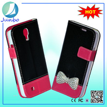 Hot sales Fancy Leather Wallet Flip Cover Case for samsung galaxy s4 active i9295