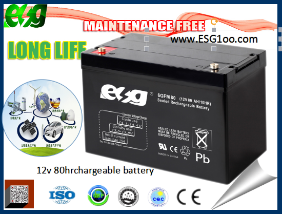 Lead acid battery Long Life sealed High quality 12V80AH Lead acid UPS Battery for home / computer ups system
