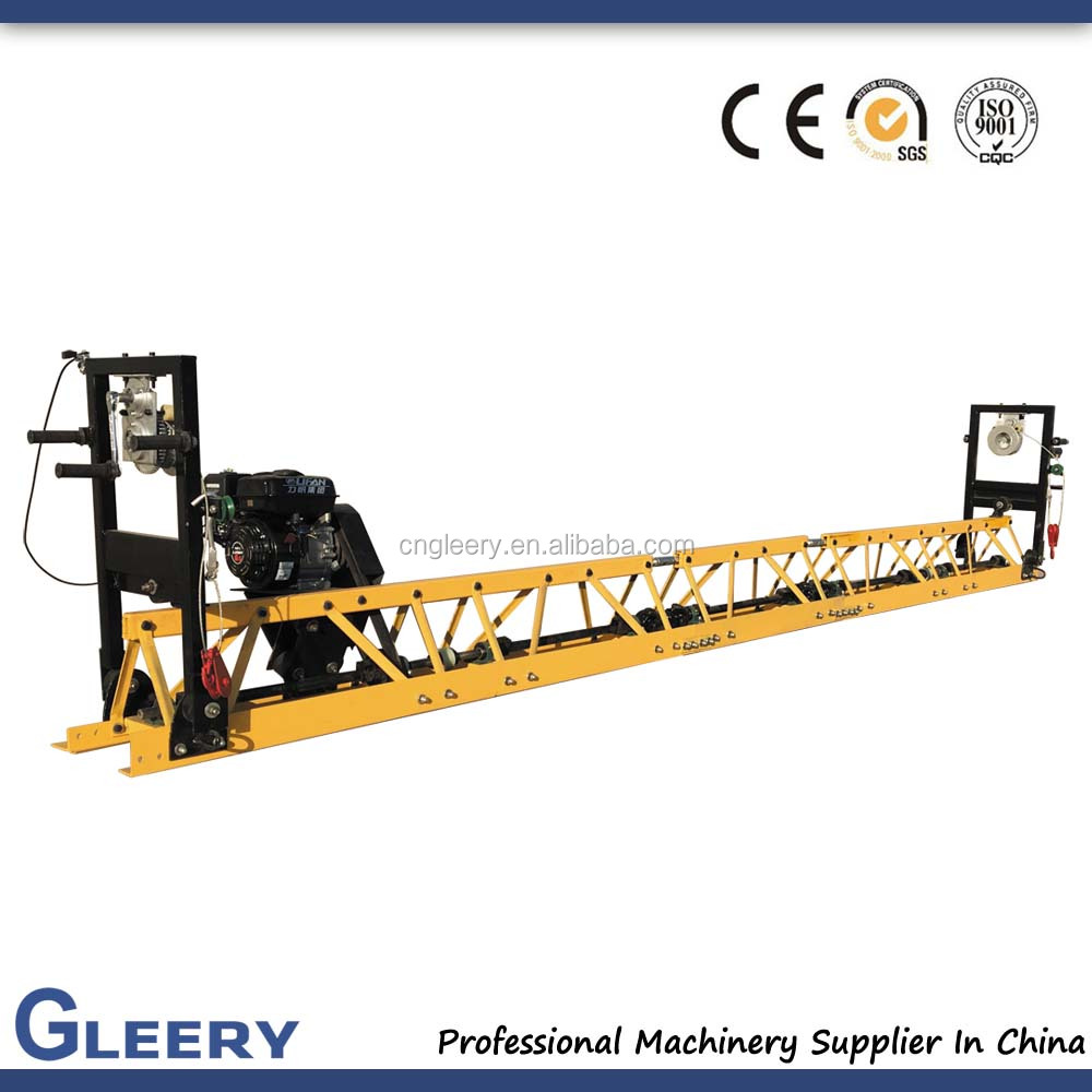 GLEERY 4-17 Meters vibrating beam concrete vibratory truss screed
