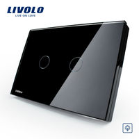 Livolo Luxury Crystal Glass Panel US/AU standard Dimmer Control Touch Wall Light Switch/Home Automation VL-C302D-82