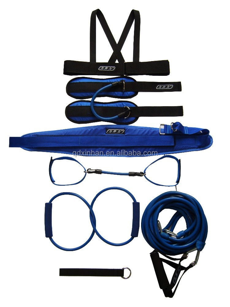 Body exercise resistance bands kit