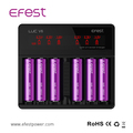 18650 vape battery charger 6 slots Efest charger battery lithium ion Efest LUC V6