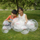 High Quality Round Shape Hollow Clear Transparent Plastic Christmas Balls Large Size Ball- 40CM