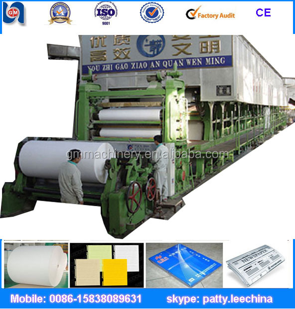 Good quality paper notebook copy paper and writing paper making machine production line