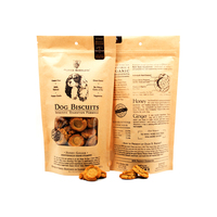 Packaging For Dried Fruit Kraft Bag With Window Pet Food Stand Up Ziplock Flat Bottom Pouch Printing