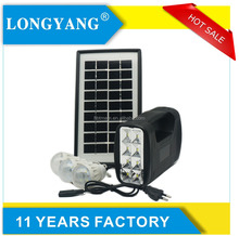 New design small solar panel system with 3 led bulb portable 3w mini solar lighting kit