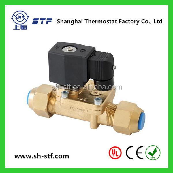 Refrigeration Solenoid Valve with 1/4 3/8 SAE Flare Connections