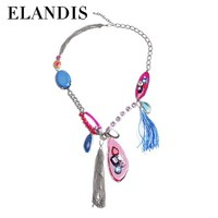 E-ELANDIS high class fashion accessories wholesale charm statement necklace