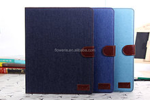 FL494 Jeans Pocket Design Leather Book-Style Case Cover for Apple iPad 2 3 4