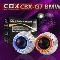 Auto HID 2.5 Inches Xenon Projector Lens Set Easy Install H4 H7 Headlight LED Angel Eye H1 Xenon Bulb LHD/RHD