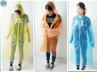 Disposable plastic raincoats orange/plastic raincoat women/plastic raincoats pink