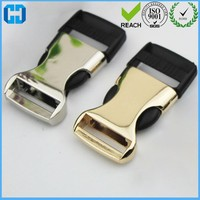 Custom Logo Metal Side Release Buckle With Plastic Insert Made In China