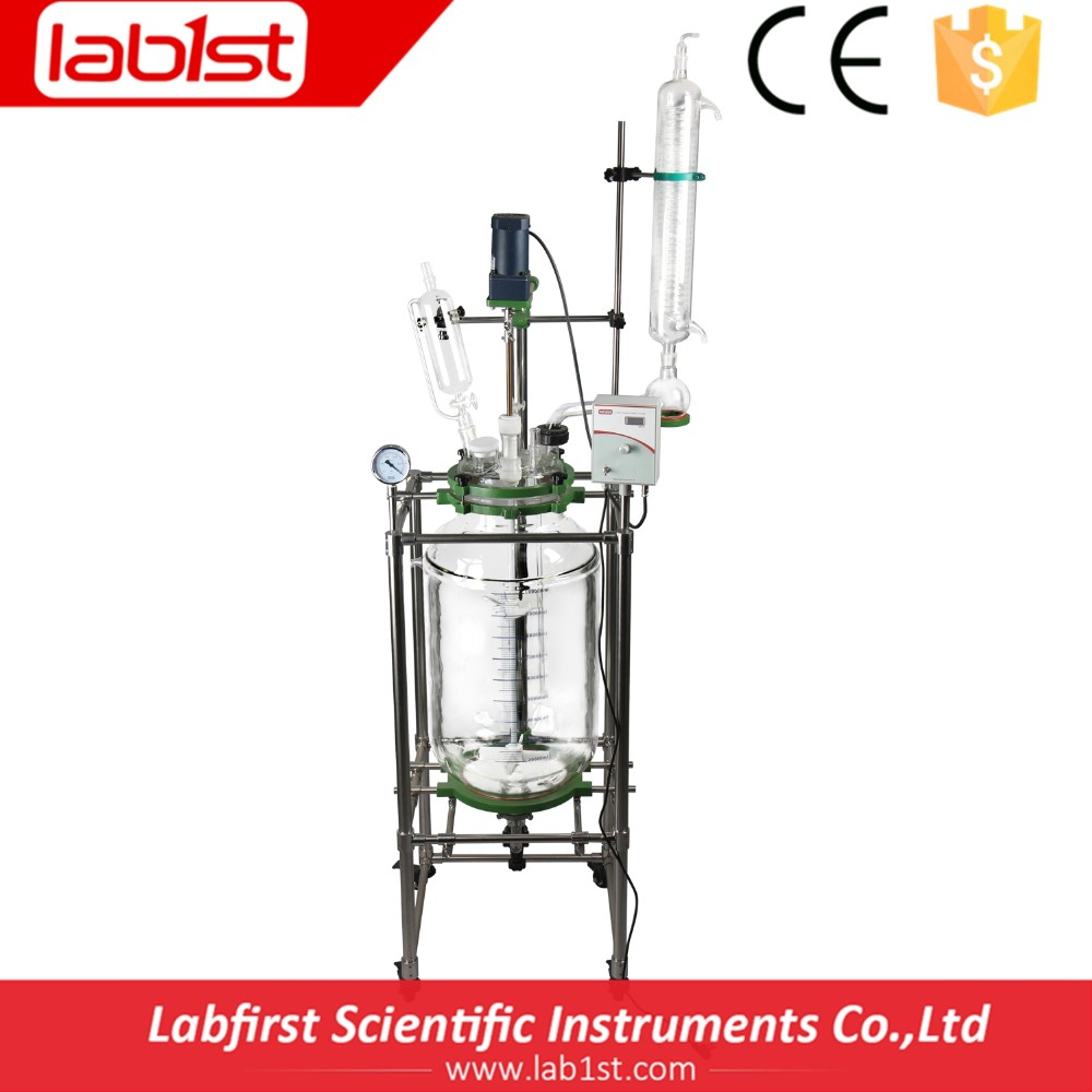 High quality large glass chemical reactor for sale