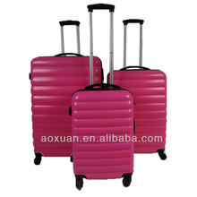 factory polycarbonate pink Suitcase Travel trolley Luggage case set for women