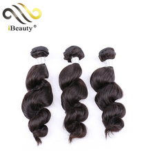 brazilian virgin hair loose wave bundle with lace closure