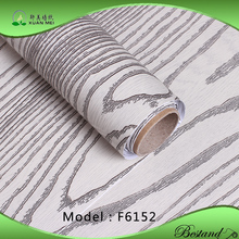 0.21mm-0.25mm thickness Natural Wood grain design PVC Veneer Film/Wallpaper manufacturers