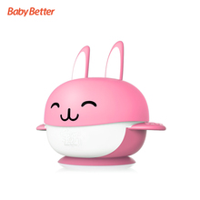 Antibacterial Cute Rabbit Design Wholesale Baby Bowl With Suction ,Baby Feeding Bowl Set