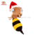 Sale China Manufacturer Wholesale Soft Maya The Honey Rocking Bee Stuffed Bumble Toy Queen Plush Bee For Vending Machine