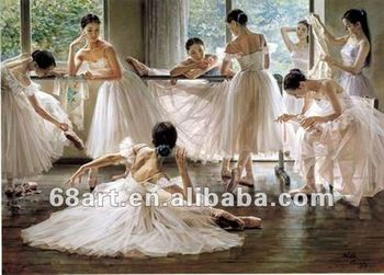 Ballet oil painting oil painting