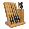 royal line kitchen knife set with wood holder and graceful arc handle